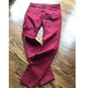 Express mid-rise maroon-red  jeans ▫️ NWT